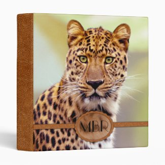 Leopard Photograph Binder