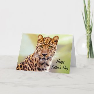 Leopard Photograph Happy Father's Day Note Card