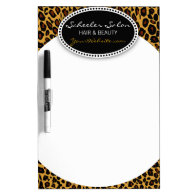 Leopard Print Hair & Beauty Dry Erase Whiteboards