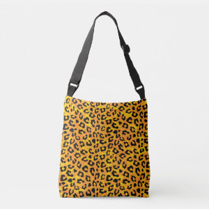 Leopard Print Orange Yellow Print Tote Bag