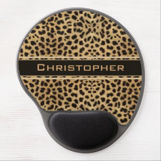 Leopard Skin Pattern Personalize Gel Mousepad