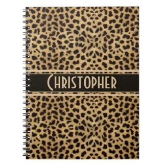 Leopard Skin Pattern Spiral Notebook