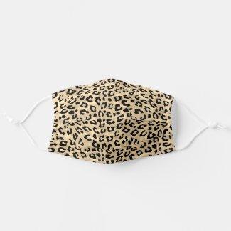 Leopard Skin Print Sepia Cloth Face Mask
