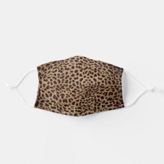 Leopard Skin Spots Dark Brown Cloth Face Mask