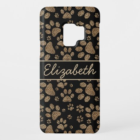 Leopard Spot Paw Prints Personalized Case-Mate Samsung Galaxy S9 Case