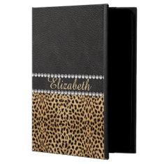 Leopard Spot Rhinestone Diamonds Monogram PHOTO Powis iPad Air 2 Case