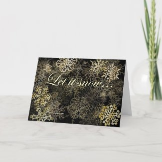 Let It Snow Holiday Snowflakes Card