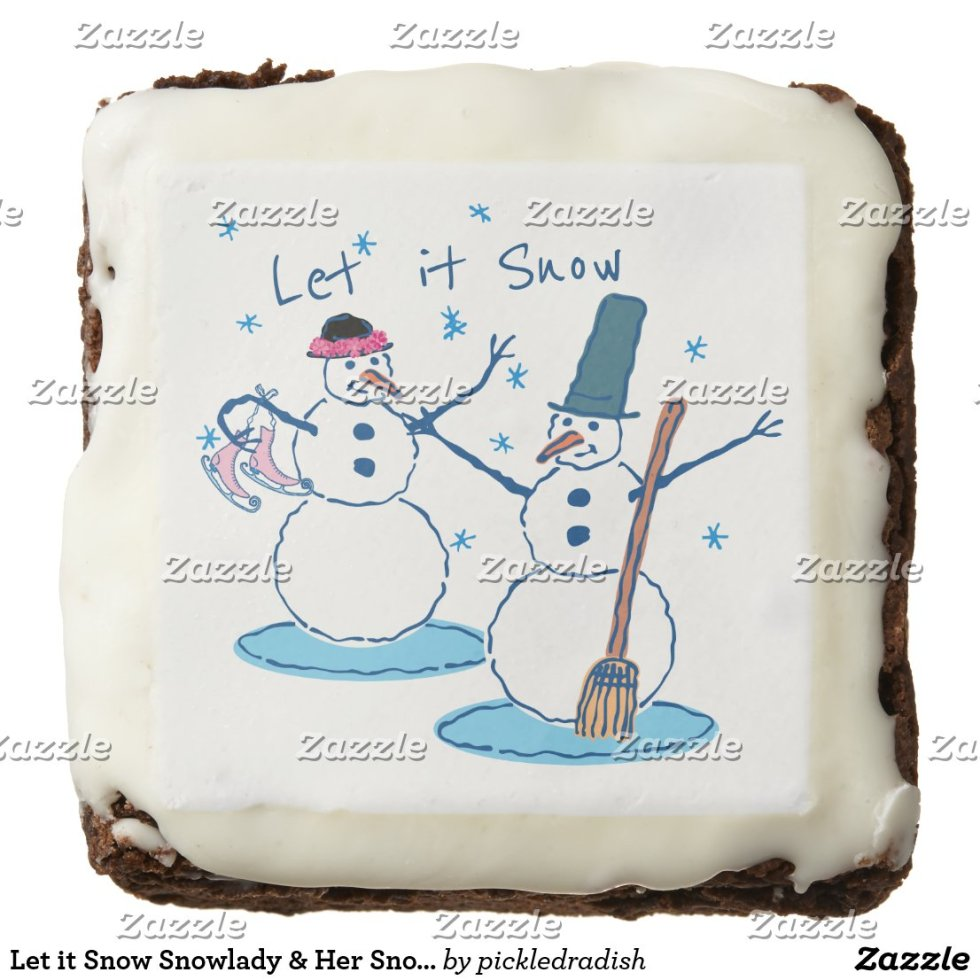 Let it Snow Snowlady & Her Snowman 2 Brownie