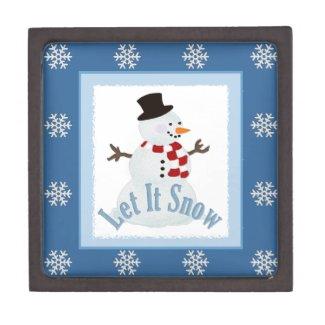 Let It Snow: Snowman Jewelry Box Premium Trinket Boxes