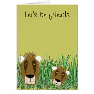 Let's be friends cards
