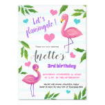 Let's Flamingale | Flamingoes Tropical Birthday Invitation