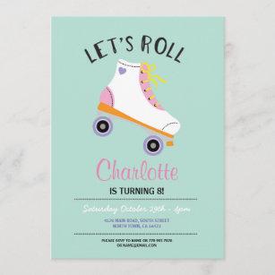 roller skating invitations zazzle
