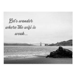 Let's Wander Postcard