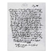 Letter from Mozart to his Father, 5th April Print