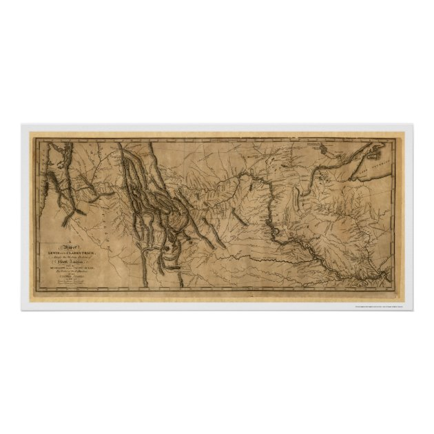 Lewis Clark Expedition Map 1804 Poster Zazzlecom