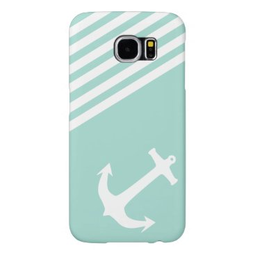 LIberty Green Nautical Anchor Samsung Galaxy S6 Case