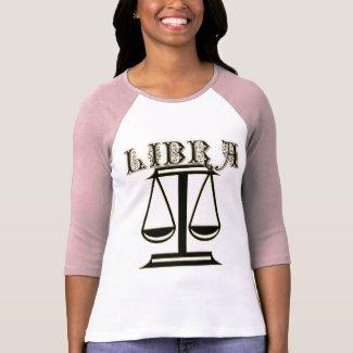 Libra Zodiac Symbol Tee Shirt