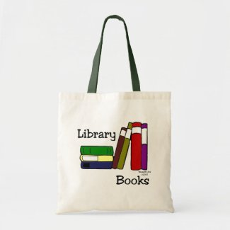 Library Book Bag Budget Tote Bag