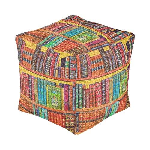 Library Books Pouf