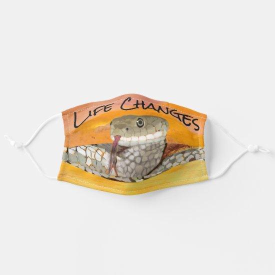 Life Changes Snake Symbolism of Transformation Cloth Face Mask
