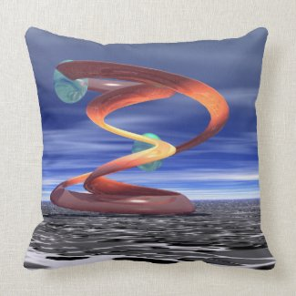 Light Wave 5 Designer Pillow by CricketDiane throwpillow