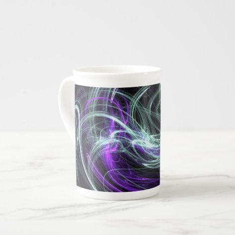 Light Within - Violet & Indigo Swirls Tea Cup