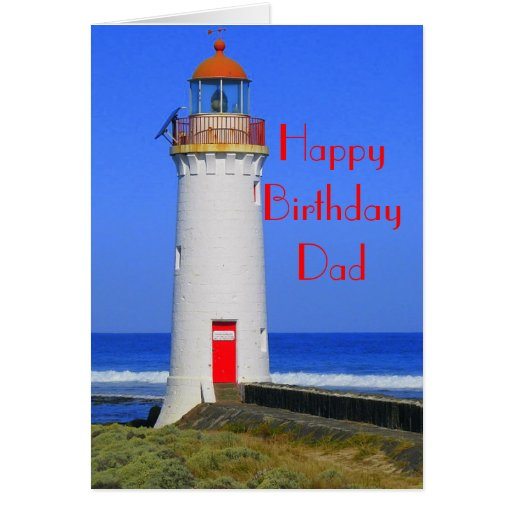 Lighthouse Birthday Card For Dad Zazzle