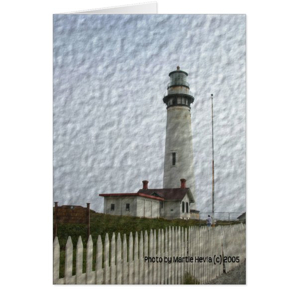 Lighthouse Photo-Painting Card