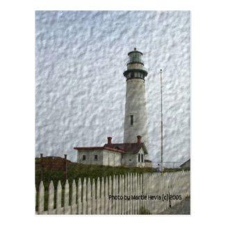 Lighthouse Photo-Painting Postcard