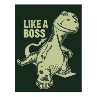 Like a Boss Dinosaur Postcard