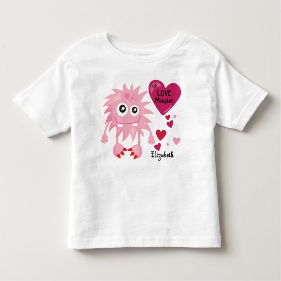 Lil Love Monster with Hearts | Valentine's Toddler T-shirt
