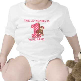 Lil Monkey Girl First Birthday Shirt