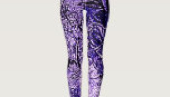 83f2587b97edba LILAC FLORAL ABSTRACT LEGGINGS : Creative Yoga Pants And Running Tights  Designs For Exercise Motivation And