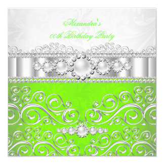 Lime Green Silver And White Bridal Shower