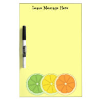 Lime Lemon and Orange Dry-Erase Whiteboards