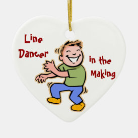 Line Dancer in the Making! (Boy) Ceramic Ornament