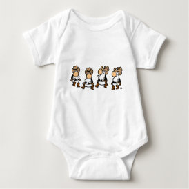 Linedancing Cows Baby Bodysuit