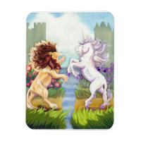 Lion and Unicorn Magnet