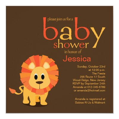 Lion Boy Baby Shower King Jungle Lion Baby Shower