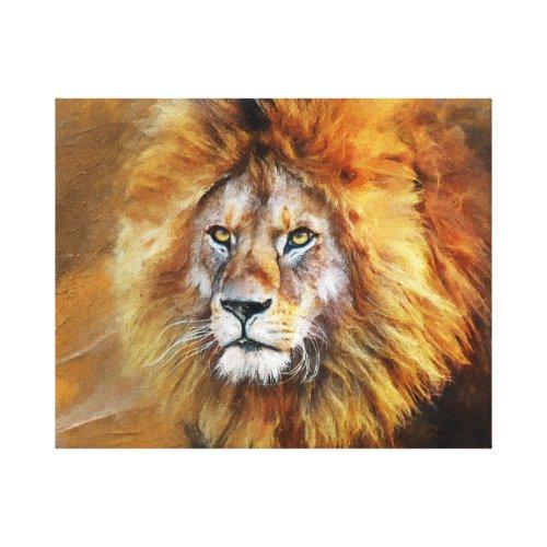 Lion Digital Oil Painting Canvas Print