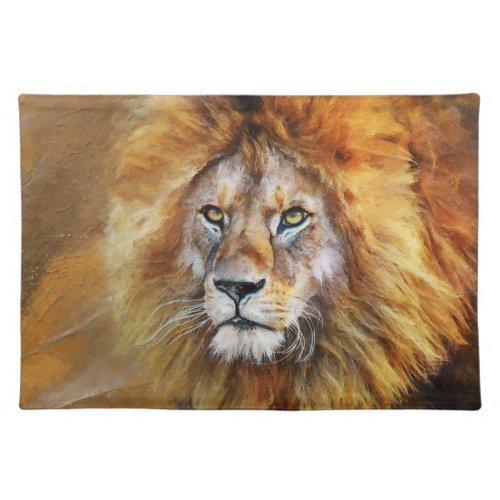 Lion Digital Oil Painting Cloth Placemat