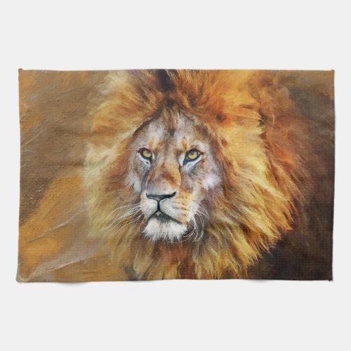 Lion Digital Oil Painting Kitchen Towel