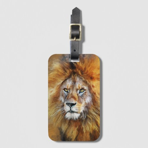 Lion Digital Oil Painting Luggage Tag