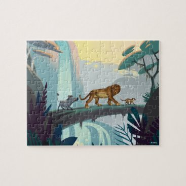 Lion King | Pumbaa, Simba, & Timon Crossing Log Jigsaw Puzzle