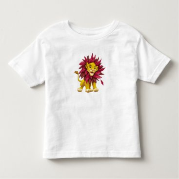 Lion King Simba cub mane of pink red leaves Disney Toddler T-shirt
