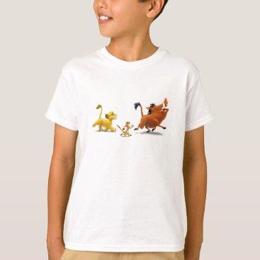 Lion King Simba cub timon pumbaa singing trotting T-Shirt