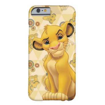Lion King   Simba on Triangle Pattern Barely There iPhone 6 Case