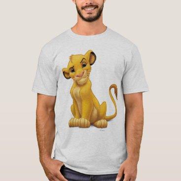 Lion King   Simba on Triangle Pattern T-Shirt
