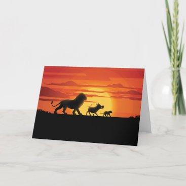 Lion King | Simba, Pumbaa, & Timon Silhouette Card