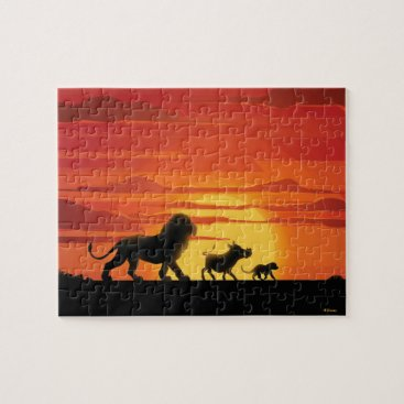 Lion King | Simba, Pumbaa, & Timon Silhouette Jigsaw Puzzle